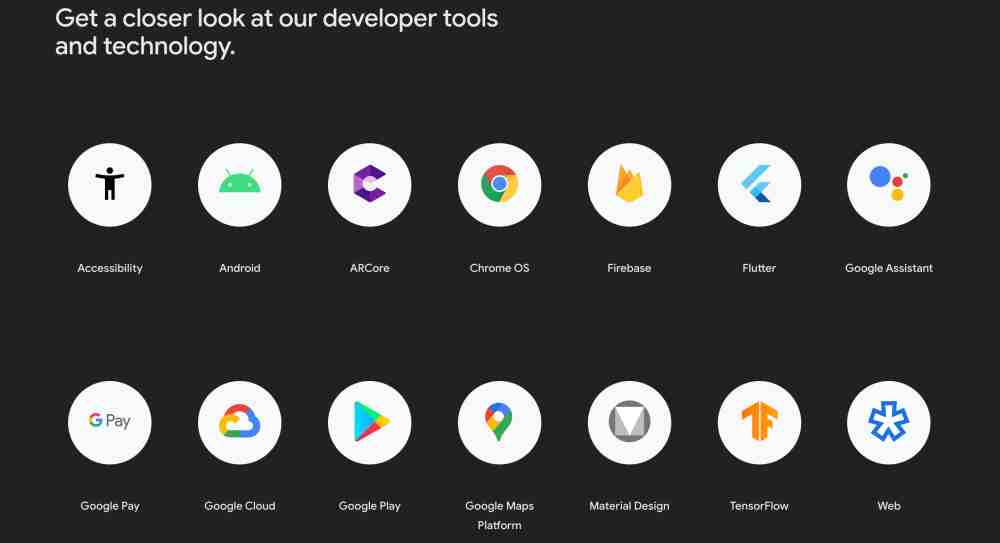 Google I/O products showcase for the event