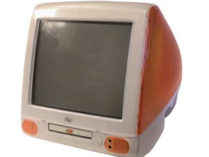 Apple Macintosh G3 in orange color is a legendry computer from Apple